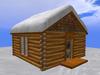 RE Pine Mt. Log Cabin w/Snow on Roof - Ski Chalet