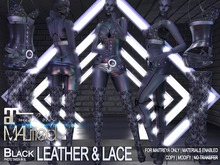 MALified - Leather & Lace Outfit (Black): Maitreya Only