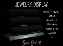 Dark Secrets - Shop display for bracelets and watches