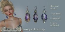 Eclectica Baroque Earrings -Violet