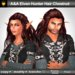 A&A Elven Hunter Hair Chestnut (unisex long curly hairstyle)
