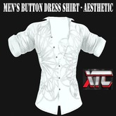 XTC Men's Button Dress Shirt Aesthetic White