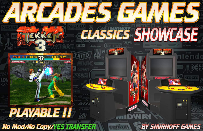 Second Life Marketplace Tekken 3 Showcase Arcades Games Box