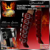 """* 10L SALE * !Drakke! """"Stacked"""" Knee High Boots (Dark Red) ~ (works with All Viewers, Includes Alpha Masks & Invis Prims"""