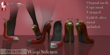 Eclectica Wasp Stilettos- red