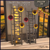 Autumn Sale !! Follow US !! Autumn - Sunflowers ladder lights
