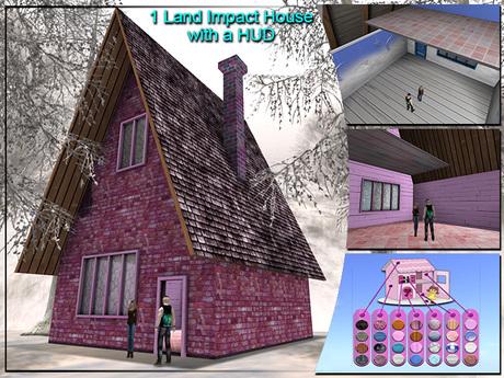 1 LI ( One Prim ) Cottage House { Mesh Promo }