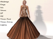 ~PP~ Shimmering Quiver  Gown - Feuille Morte