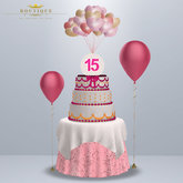 Anniversary Birthday Rez Day #15 Cake & Table PINK (BOXED)