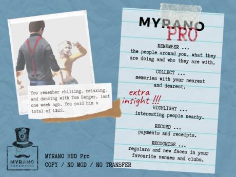 Myrano HUD PRO - Remembers Everyone Around You