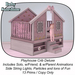 Playhouse Crib Deluxe Clover Pink (ADD)