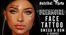 [Suicidal Thots] Dream Girl Face Tattoo