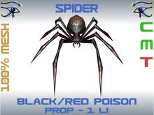 SPIDER - RED/BLACK POISON