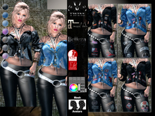 V-Twins - Biker Clothes - Probe Collection Biker Version **MESH Top & Pants Compat. (Maitreya Slink & Belleza)