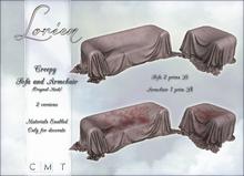 LORIEN CREEPY SOFA AND ARMCHAIR BOXED