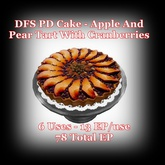 DFS TEXTURE - DFS PD Cake - Apple And Pear Tart With Cranberrie