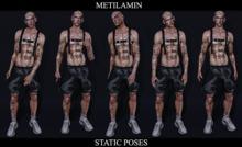 "BENTO""METILAMIN"".Male Poses .static set.45"