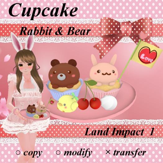 Cupcake - Rabbit & Bear