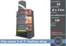 * M^2 * Fashion shop building - Japanese City scene 2 of 7 (BOXED/MESH/COPY/MODIFY)