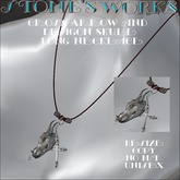 Dragon Skull Men's Long Necklace Stone's Works