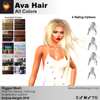 A&A Ava Hair All Colors, boxed