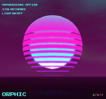 Orphic VaporRising Off Sim Vaporwave Sun