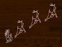 Christmas Lights Reindeer Sledge