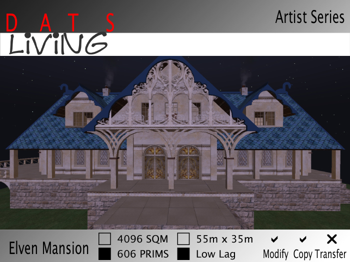 Elven Mansion - Gothic Revival Home for Roleplay or extra fancy Living. Elven Home, Elven House