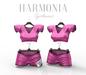 * Harmonia Original Pink Black Sports Team Outfit Maitreya