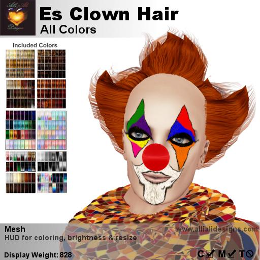 A&A ES Clown Hair All Colors, boxed