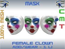 FEMALE CLOWN MASK