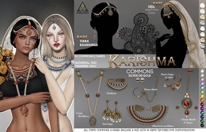 .a. Karishma . ChainBindi & Tears {Gold}