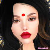 ~Dollypop~ BOM Tattoo - Big Red Bindi for Classic Avatar and Bakes on Mesh