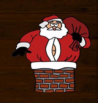 Santa Claus in Chimney
