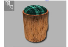 Cushion Top Stump Stool - Full Perm & Free Gift