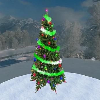 Christmas Tree 5 (1 Prim)