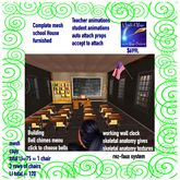 Complete furnished School house animated interactive-Crate