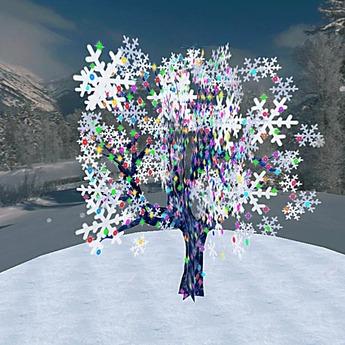 Blinking Wintertree (1 Prim)