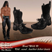 *Milady's* -Deal with it- Old, Used, Black Leather Biker Boots