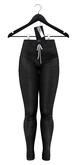 .: vive nine :. Tami Ribbed Track Pants - Black