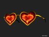 Love heart glasses 014