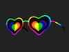 Love heart glasses 015