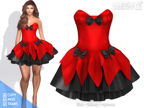 ::MA:: Layered Bow Corset Dress - FULL PERM