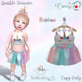 *Cherry Tot* TDB/BEBE Sparkle Unicorn Rainbow (Wear&Click)