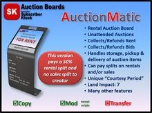 AuctionMatic (AM) Rental Auction Board [50% creator split]