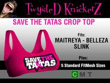 ::TwysteD KnickerZ:: Save The Tatas Crop Top