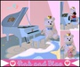Toy piano blue for baby Zooby