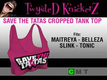 ::TwysteD KnickerZ:: Save The Tatas Cropped Tank Top