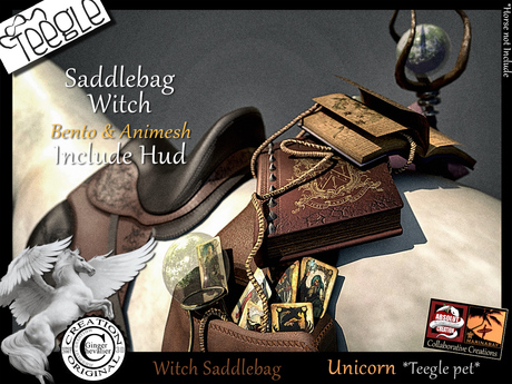 *.* SaddleBag Witch- Teggle Unicorn