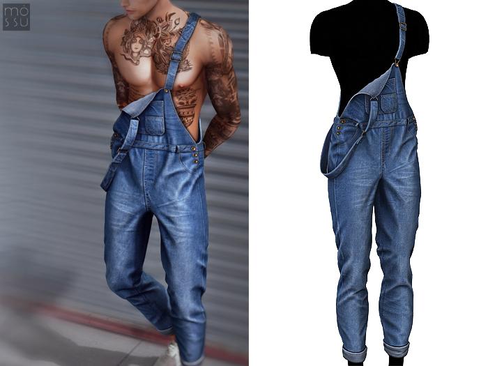 Mossu - Mark Jumpsuit - Blue N2 - Long